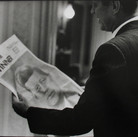 Jacques Lowe (1930-2001)  John F. Kennedy in Los Angeles, the morning after he was announced as the Democratic nominee  photo July 1960 [printed later]  gelatin silver print, signed, stamped  paper size > 16 x 20 inches