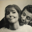 Roy Schatt [1909-2002]  Ann Meara and Jerry Stiller.  Members of THE ACTORS STUDIO  photograph circa 1950s  vintage gelatin silver print, stamped  size > 12.75 x 16.5 inches  © Estate of Roy Schatt