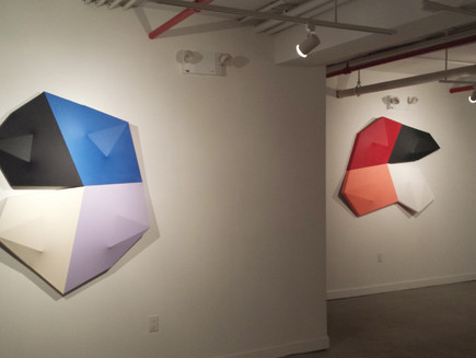 Charles Hinman  Shaped Paintings  Installation view, March 2017