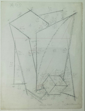 CHARLES HINMAN (b. 1932)  Study for Delphi, 1984  graphite on paper  25 x 19 inches