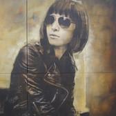 Bryan el Castillo  Hikari  oil, mixed media on canvas,  60 x 72 inches