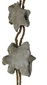 Boris Lurie (1924-2008)  Rope and Stars of David, c.1973  cement, rope and metal tag  61 x 9.5 x 3 inches