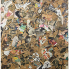 Boris Lurie (1924-2008) Torn Pinups, 1962-63 collage, paper on canvas 68 x 45 inches