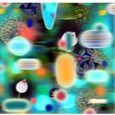 Mary Ann Strandell  Poly Transit Blue Stripe, 2003  3D lenticular print on Sintra,  16 x 16 x 1 inches