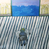 James Juthstrom (1925-2007) Blue Wall circa mid-1990s acrylic on canvas 60 x 50 inches