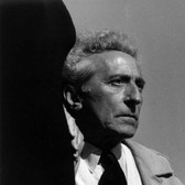 Lucien Clergue [1934-2014]  Jean Cocteau at Villefranche sur mer  photo 1959 [printed later]  gelatin silver print, edition of 30 MF, signed  paper size > 16 x 12 inches