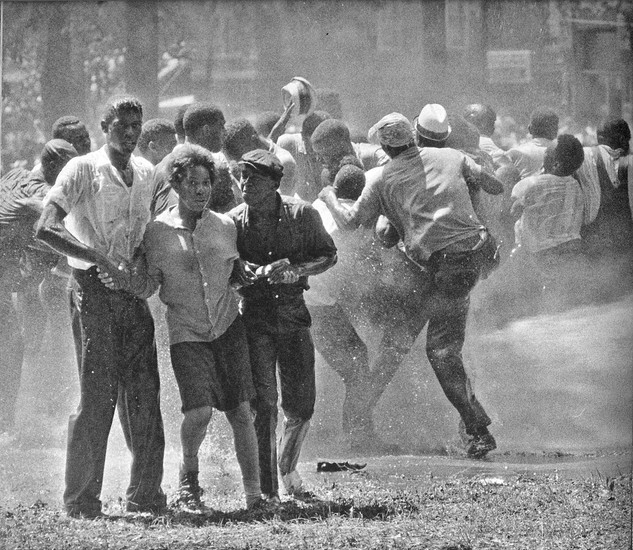 BOB ADELMAN (1930-2016) Beloved community, Kelly Ingram Park, Birmingham, Alabama photo 1963 [printed later]  gelatin silver print, edition of 15, signed, numbered  Paper Size: 16 x 20 inches | 40.6 x 50.8 cm