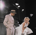 """SAM SHAW [1912-1999]  Marilyn Monroe and Tom Ewell on the set of """"The Seven Year Itch"""", Los Angeles, CA  photo 1954 [printed later]  C-print, edition of 30, stamped by the Estate  paper size > 15.75 x 12 inches"""