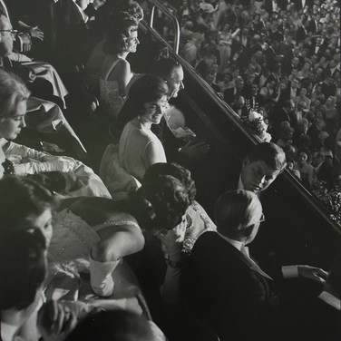 Jacques Lowe (1930-2001)  Jackie Kennedy. Inaugural ball, Armory, Washington, DC  photo January 20, 1961 [printed later]  gelatin silver print, signed  paper size > 20 x 16 inches