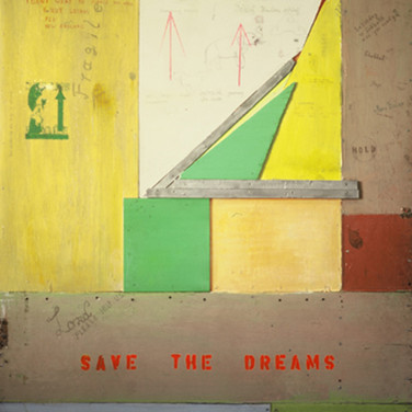 Wulf Treu  Save the Dreams  acrylic & resin on wood,  71 x 58 x 2 inches