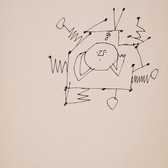 Untitled (Antenna), 1955-67 ink on paper, signed 11 x 8.5 inches
