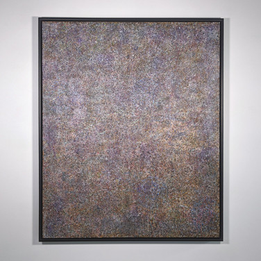 James Juthstrom (1925-2007) Untitled #67 [Gold], circa 1980s acrylic on canvas 58 x 48 inches