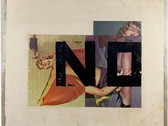 Boris Lurie (1924-2008) NO on Reversed Pinups, 1972  oil paint and paper collage on canvas  18.75 x 22.5 inches