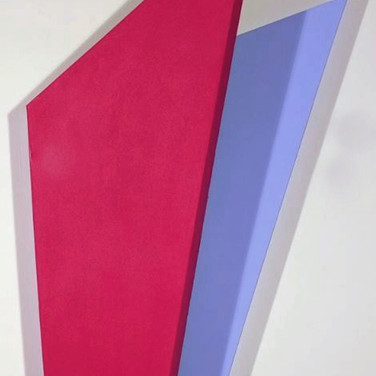 CHARLES HINMAN (b. 1932)  Red Violet Wing, 2014  acrylic on shaped canvas  49 x 27 x 12 inches