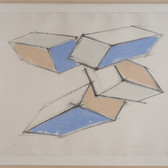 Charles Hinman Study for Flying Four, 1974 charcoal, oilstick on paper 29 x 34 inches