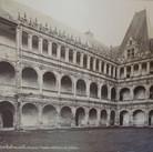 Séraphin-Médéric Mieusement (1840- 1905)  La Rochefoucault (Charente). Castle interior, circa 1880s   albumen print mounted on bookboard, inscribed, stamped  10.5 x 17 inches