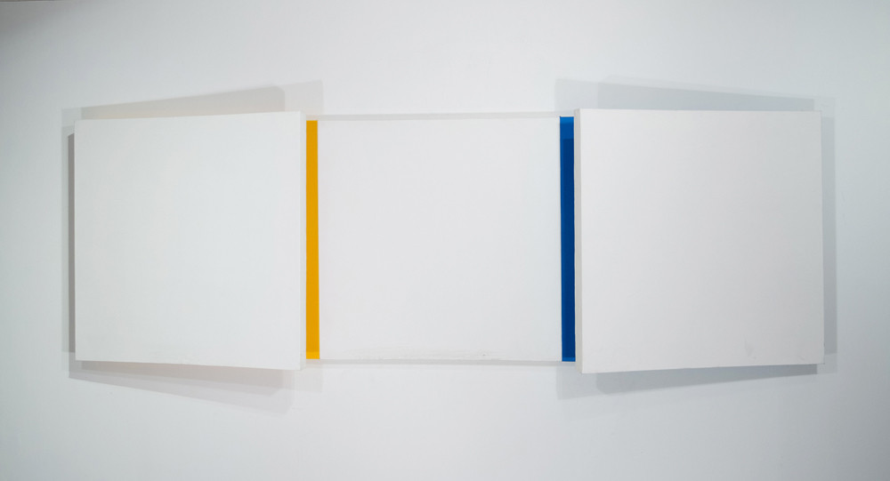 CHARLES HINMAN Analogous Eclipse, 2010 acrylic on shaped canvas Artwork: 36 x 108 x 11.5 inches | 91.4 x 274.3 x 29.2 cm