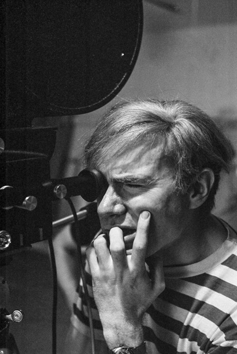 BOB ADELMAN (1930-2016) Andy Warhol filming with movie camera at the Factory photograph 1965 [printed later] archival pigment print, edition 1/20, signed Paper Size: 14.25 x 18.5 inches | 36.2 x 47.0 cm
