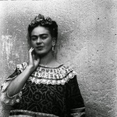 Leo Matiz (1917-1998) Frida Kahlo, Coyoacàn, Mexico  photo 1943 [printed 1997 gelatin silver print, edition of 25, signed 17.25 x 13.25 inches