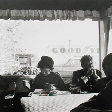 Jaques Lowe (1930-2001) Diner, Oregon photo 1959 [printed later] gelatin silver print, signed paper size > 20 x 16 inches
