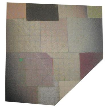 Will Insley [1929-2011] Wall Fragment 88.1, 1988 acrylic on masonite, 70.5 x 72.5 x 2 inches