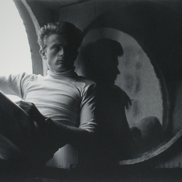 Roy Schatt [1909-2002]  James Dean in his apartment, New York City  photo 1954 [printed later]  gelatin silver print, edition of 65, signed, stamped  paper size > 20 x 16 inches  photo Roy Schatt CMG