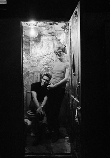 BOB ADELMAN (1930-2016) Andy Warhol and Gerard Malanga in the silver Factory photograph 1965 [printed later] archival pigment print, AP, signed Paper Size: 17 x 11 inches | 43.2 x 27.9 cm