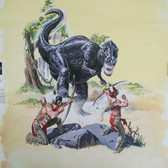 """Turok: Son of Stone  """"The Honker That Could Not Die""""  George Wilson  Issue # 72/ January 1971  Watercolor, gouache on bookboard, 22 x 18 inches"""