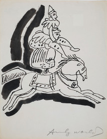 Untitled (Circus), circa 1950s ink on paper, signed 11 x 8.5 inches