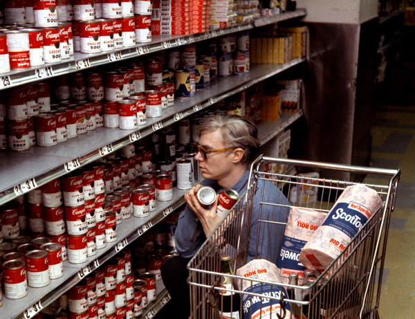 BOB ADELMAN (1930-2016) Andy Warhol in Gristedes Supermarket Near 47th Street Factory photograph 1965 [printed later) archival pigment print on Kodak paper, edition of 50, stamped by the Bob Adelman estate Paper Size: 16 x 20 inches | 40.6 x 50.8 cm