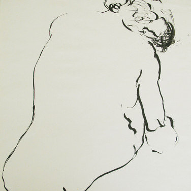 James Juthstrom [1925-2007] Untitled, circa 1950s ink on artist paper 19 x 15 inches