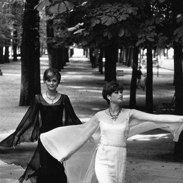 Chanel Models, Paris  photograph circa 1962-1969 (printed later)  gelatin silver print, AP, signed  image size > 14.25 x 9.75 inches  Photograph by Hatami (1928-2017)