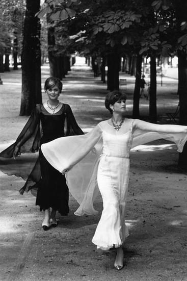 Chanel Models, Paris Photograph circa 1962-69 (printed later) gelatin silver print, AP, signed Image Size: 14.5 x 9.5 inches   36.8 x 24.1 cm Paper Size: 16 x 12 inches   40.6 x 30.5 cm  Photograph by Hatami (1928-2017)