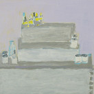 James Juthstrom (1925-2007) Untitled [Still Life], circa 2000s oil on board 14 x 23 inches