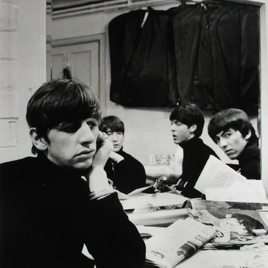 The Beatles backstage at the Cavern Liverpool, 1963  vintage gelatin silver print image size > 13.5 x 8.75 inches  Photograph by Hatami (1928-2017)