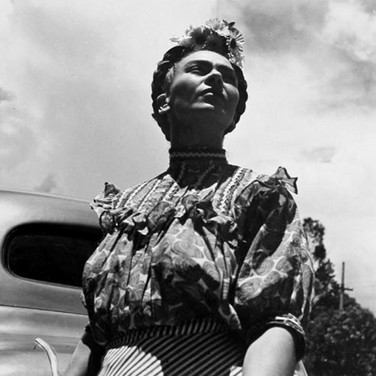 Leo Matiz (1917-1998)  Frida with car  photo 1946 [printed 1997]  gelatin silver print, edition of 41, signed 10 x 10 inches