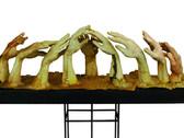 JOAN GIORDANO  Farm Hands  2004  cast paper encaustic wax  14 x 11 x 52 inches