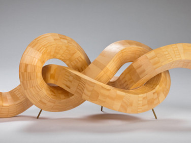 AARON PADILLA  Figure Eight, 2012  wood (pine), pine, 36 x 12 x 12 inches