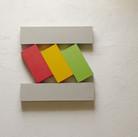 Charles Hinman Slanted Bars, 1968  acrylic on shaped canvas 34 x 33 x 2 inches