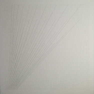 WILL INSLEY (1929-2011) Slip Space Double, 1969 pencil on cardboard 30.25 x 30.25 inches