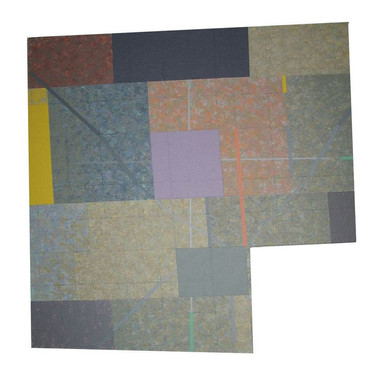 Will Insley [1929-2011] Wall Fragment No. 89.4, 1989 acrylic on masonite, 26.5 x 25.5 x 2 inches