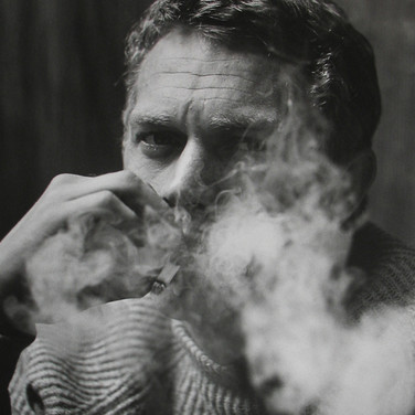 Roy Schatt [1909-2002]  Steve McQueen in Roy's Studio  (photograph circa late 1950s) [printed later]  gelatin silver print, signed  paper size > 20 x 16 inches  © Estate of Roy Schatt