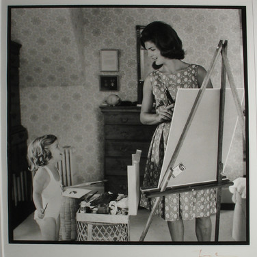 Jacques Lowe (1930-2001)  Jackie Kennedy with Caroline, Hyannis Port, MA  September 1960 [printed later]  gelatin silver print, signed, stamped  paper size > 20 x 16 inches