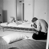 Douglas Kirkland  Marilyn Monroe and Douglas Kirkland  photograph 1961 [printed later]  edition of 24, signed and numbered paper size > 20 x 24 inches
