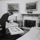 Jacques Lowe (1930-2001)  John F. Kennedy, The Oval Office  photo 1961 [printed later]  gelatin silver print  paper size > 16 x 20 inches
