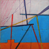 James Juthstrom (1925-2007) Untitled, circa 1970s oil on board 24 x 24 inches