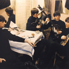 The Beatles backstage at the Cavern  Liverpool, 1963  vintage R-print image size > 13.5 x 8.75 inches  Photograph by Hatami (1928-2017)