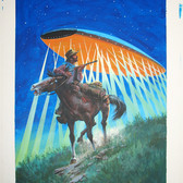 """UFO & Outerspace  """"What If-?""""  Mel Crawford  Issue # 20/ February 1979  Watercolor, gouache on bookboard, 20 x 15 inches"""