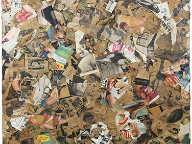 Boris Lurie (1924-2008)  Torn Pinups, 1962-1963  collage, paper on canvas  68 x 45 inches