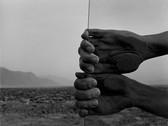 JUDY DATER  My Hands, Death Valley  1980  gelatin silver print  14.25 x 18.5 inches